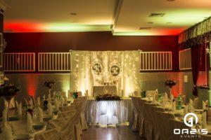 jesienne kolory dekoracji na wesele Magnat Lubin