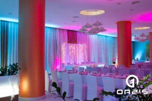 Dekoracja światłem na wesele hotel Europa w Lubinie