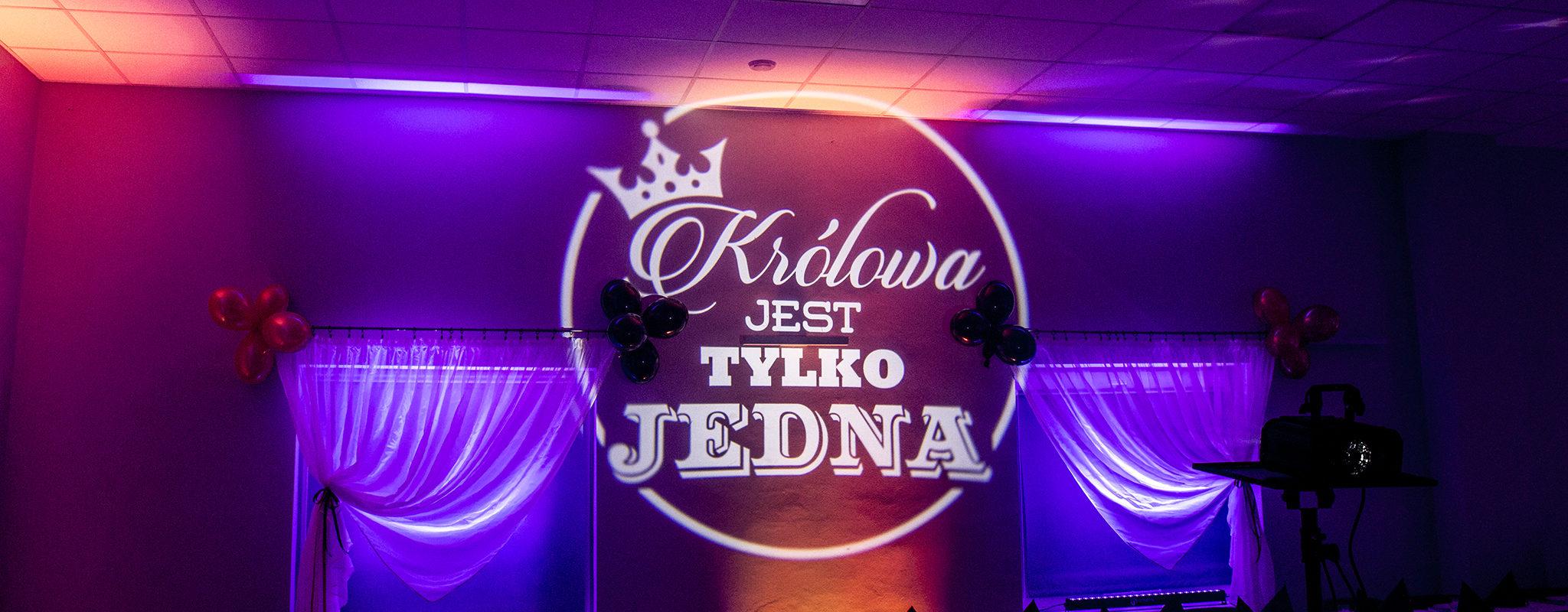 Królowa tylko JEDNA - projektor GOBO na 18ste urodziny