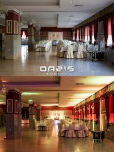 Efekt wow dekoracji światłem w Lubinie przed i po