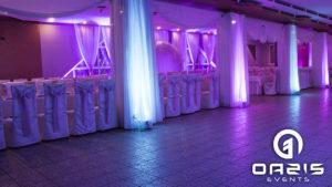 Hotel Baron i sala weselna z naszą dekoracją światłem oazis events