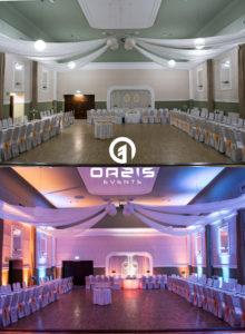 Oświetlenie architektoniczne Oazis events w Legnicy