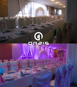 Hotel baron i dekoracja światłem imprezy firmowej szkolenia