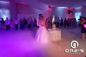 Tort weselny i ciężki dym Rudna