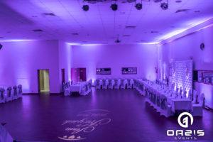 Dekoracja światłem na sylwester centrum kultury w ścinawie