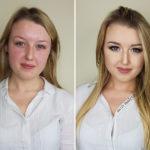 metamorfoza makijaz upiększający, podkreślone oko uśmiech
