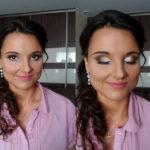 makijaż, ślubny, wieczorowy, rozświetlone oko,