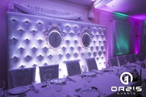 Ścianka pikowana biała na wesele