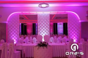 Sala bankietowa z naszą dekoracją światłem - Rodos Głogów