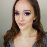 makijaż studniówka, niebieskie oko, brązowe smokey, podkreślenie urody, brunetka, konturowanie