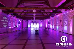 Pałac w Łagowie dekoracja światłem