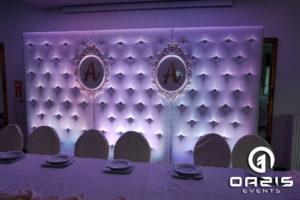 Ścianka pikowana ślubna